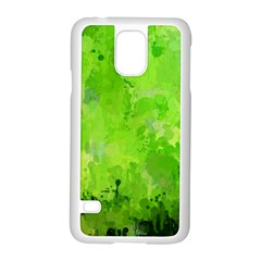 Splashes Of Color, Green Samsung Galaxy S5 Case (white)