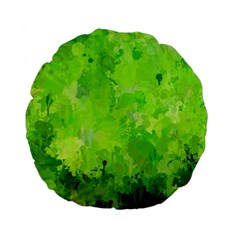 Splashes Of Color, Green Standard 15  Premium Flano Round Cushions