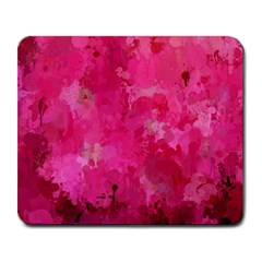 Splashes Of Color, Hot Pink Large Mousepads