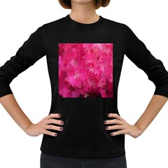 Splashes Of Color, Hot Pink Women s Long Sleeve Dark T-Shirts