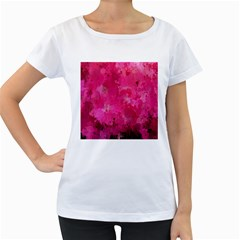Splashes Of Color, Hot Pink Women s Loose-Fit T-Shirt (White)