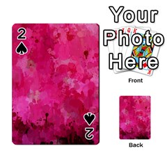 Splashes Of Color, Hot Pink Playing Cards 54 Designs