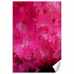 Splashes Of Color, Hot Pink Canvas 12  x 18