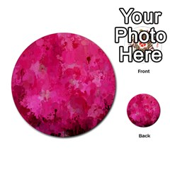 Splashes Of Color, Hot Pink Multi-purpose Cards (Round)