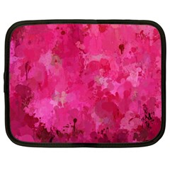 Splashes Of Color, Hot Pink Netbook Case (Large)