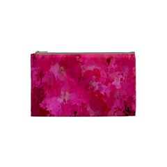 Splashes Of Color, Hot Pink Cosmetic Bag (Small)