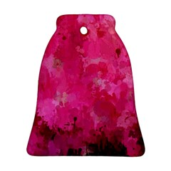 Splashes Of Color, Hot Pink Bell Ornament (2 Sides)