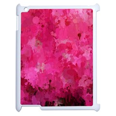 Splashes Of Color, Hot Pink Apple iPad 2 Case (White)