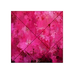 Splashes Of Color, Hot Pink Acrylic Tangram Puzzle (4  x 4 )