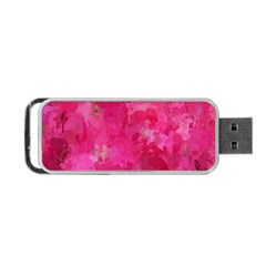 Splashes Of Color, Hot Pink Portable Usb Flash (one Side)
