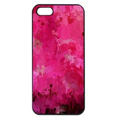 Splashes Of Color, Hot Pink Apple iPhone 5 Seamless Case (Black)