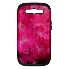 Splashes Of Color, Hot Pink Samsung Galaxy S III Hardshell Case (PC+Silicone)