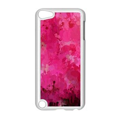 Splashes Of Color, Hot Pink Apple iPod Touch 5 Case (White)