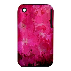 Splashes Of Color, Hot Pink Apple iPhone 3G/3GS Hardshell Case (PC+Silicone)