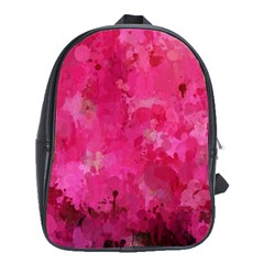 Splashes Of Color, Hot Pink School Bags (XL)