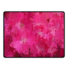 Splashes Of Color, Hot Pink Double Sided Fleece Blanket (Small)