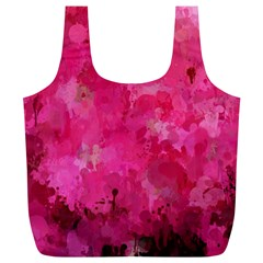 Splashes Of Color, Hot Pink Full Print Recycle Bags (L)