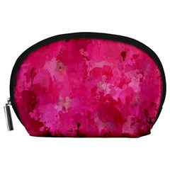 Splashes Of Color, Hot Pink Accessory Pouches (Large)