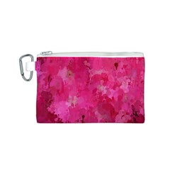 Splashes Of Color, Hot Pink Canvas Cosmetic Bag (S)