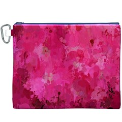 Splashes Of Color, Hot Pink Canvas Cosmetic Bag (XXXL)