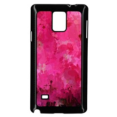 Splashes Of Color, Hot Pink Samsung Galaxy Note 4 Case (Black)