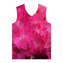 Splashes Of Color, Hot Pink Men s Basketball Tank Top