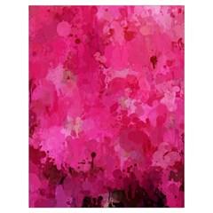 Splashes Of Color, Hot Pink Drawstring Bag (Large)
