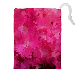 Splashes Of Color, Hot Pink Drawstring Pouches (xxl)