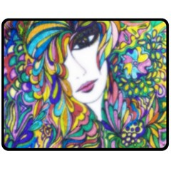 Flower Child Pic Up Fleece Blanket (medium)