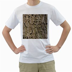 GREY TREE BARK Men s T-Shirt (White) (Two Sided)