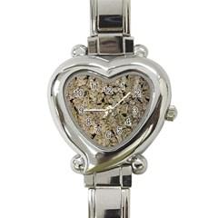 GREY TREE BARK Heart Italian Charm Watch