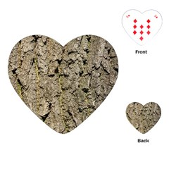 Grey Tree Bark Playing Cards (heart)