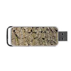 Grey Tree Bark Portable Usb Flash (one Side)