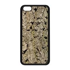 GREY TREE BARK Apple iPhone 5C Seamless Case (Black)
