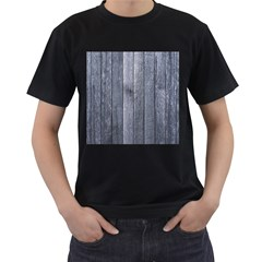 GREY FENCE Men s T-Shirt (Black) (Two Sided)