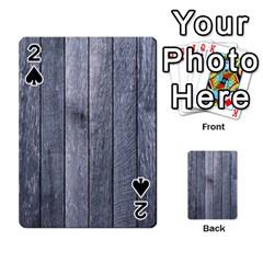 GREY FENCE Playing Cards 54 Designs