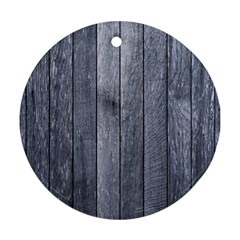 GREY FENCE Round Ornament (Two Sides)