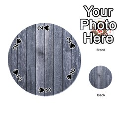 Grey Fence Playing Cards 54 (round)