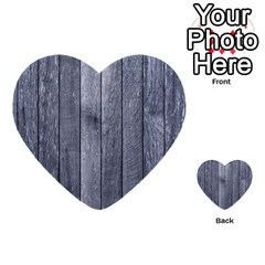 Grey Fence Multi Purpose Cards (heart)