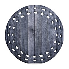 Grey Fence Round Filigree Ornament (2side)
