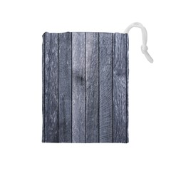 GREY FENCE Drawstring Pouches (Medium)