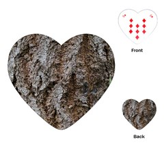 Douglas Fir Bark Playing Cards (heart)