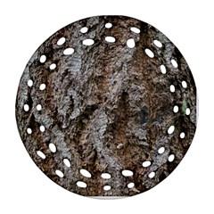 Douglas Fir Bark Ornament (round Filigree)