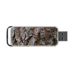 Douglas Fir Bark Portable Usb Flash (one Side)