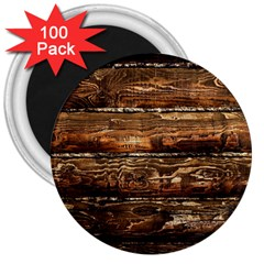 DARK STAINED WOOD WALL 3  Magnets (100 pack)