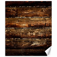 DARK STAINED WOOD WALL Canvas 20  x 24
