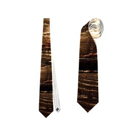 DARK STAINED WOOD WALL Neckties (One Side)