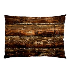 Dark Stained Wood Wall Pillow Cases