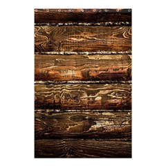 Dark Stained Wood Wall Shower Curtain 48  X 72  (small)