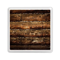 Dark Stained Wood Wall Memory Card Reader (square)